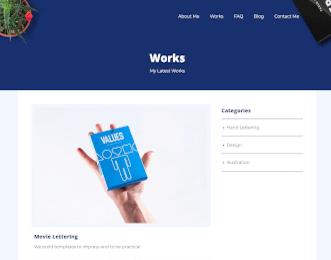 Freelancer - Designer website template view