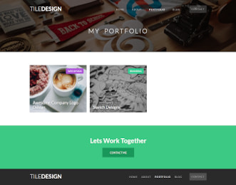 TileDesign - Portfolio website template view