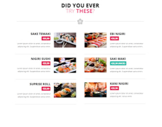 Zooshi - Restaurant website template view
