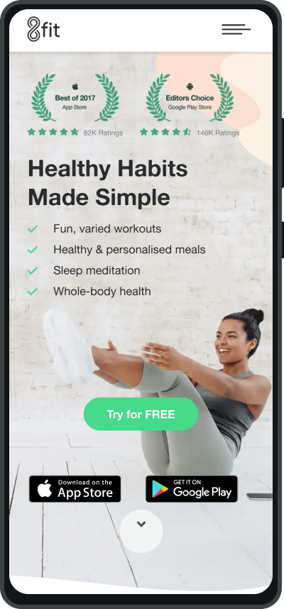 8Fit is one of the best fitness apps on the market