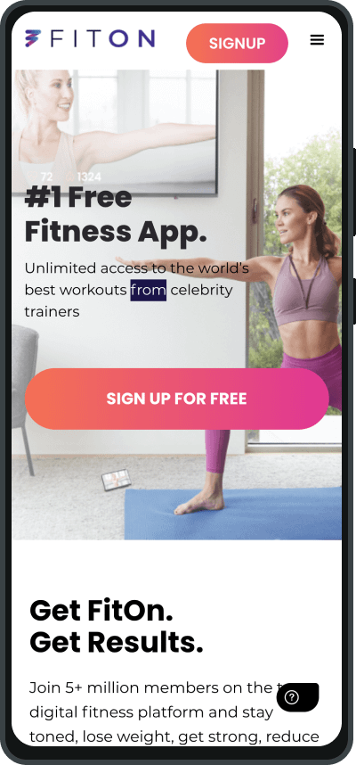FitOn is a contender for the best fitness apps for mobile devices