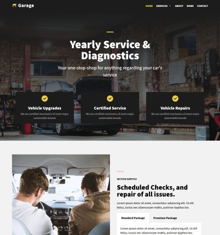 neve - one of the best flat design WordPress themes