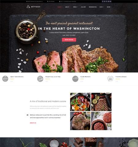 Bettaso Restaurant WordPress Theme