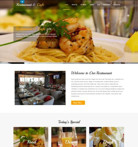 free restaurant WordPress themes #1: Restaurant Lite