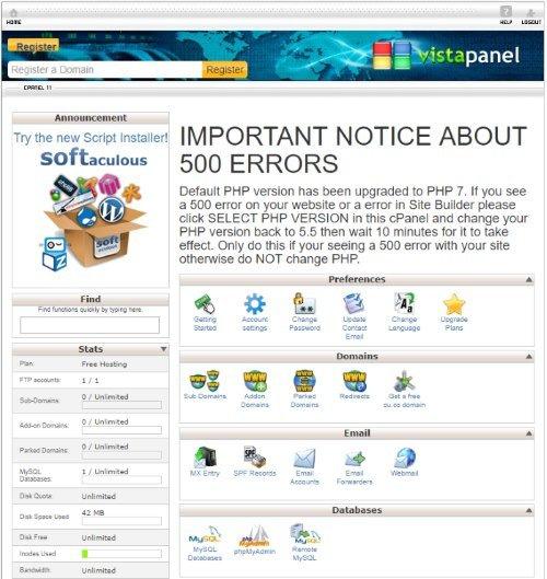 byet cpanel for free WordPress hosting