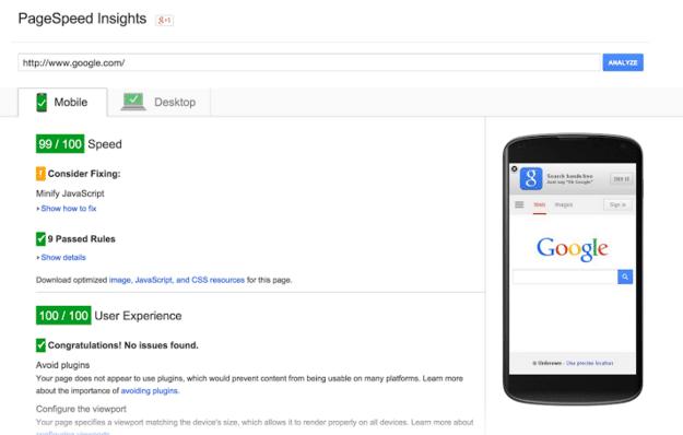 Google PageSpeed Tools