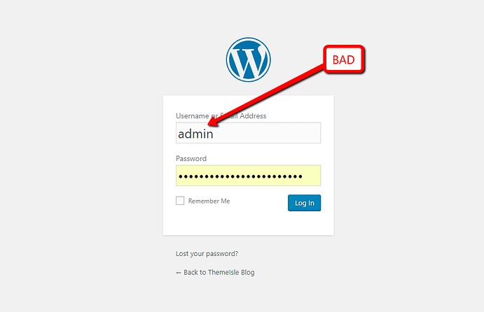 admin username change