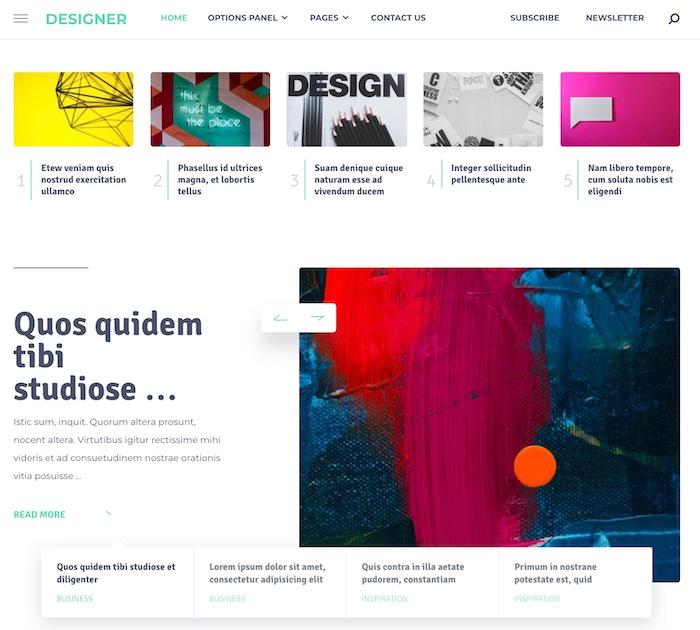 Best WordPress themes #9: designer