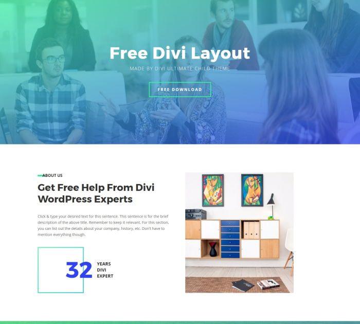 free divi layout