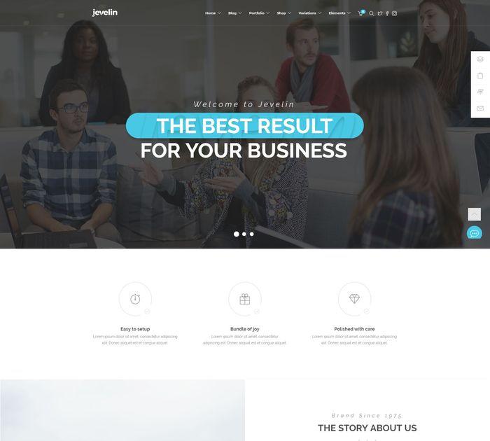 SEO friendly WordPress themes: Jevelin