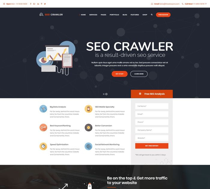 SEO friendly WordPress themes: SEO Crawler