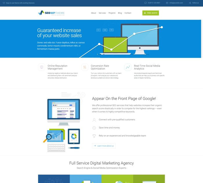 SEO friendly WordPress themes: SEO WP