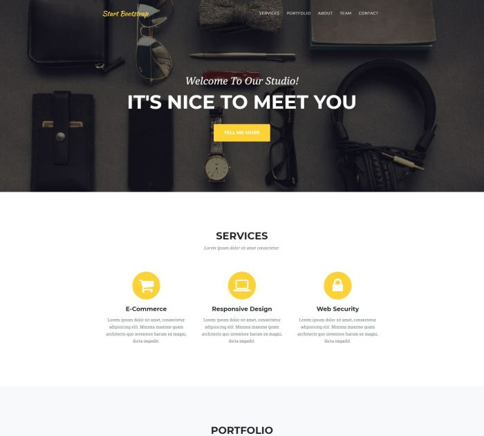 Best Bootstrap 4 templates: Agency