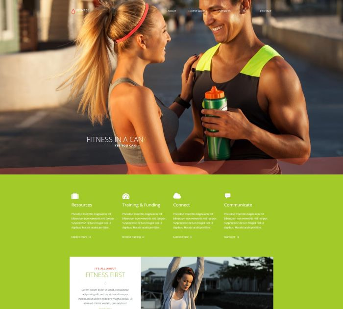 Best Bootstrap 4 templates: Fitness