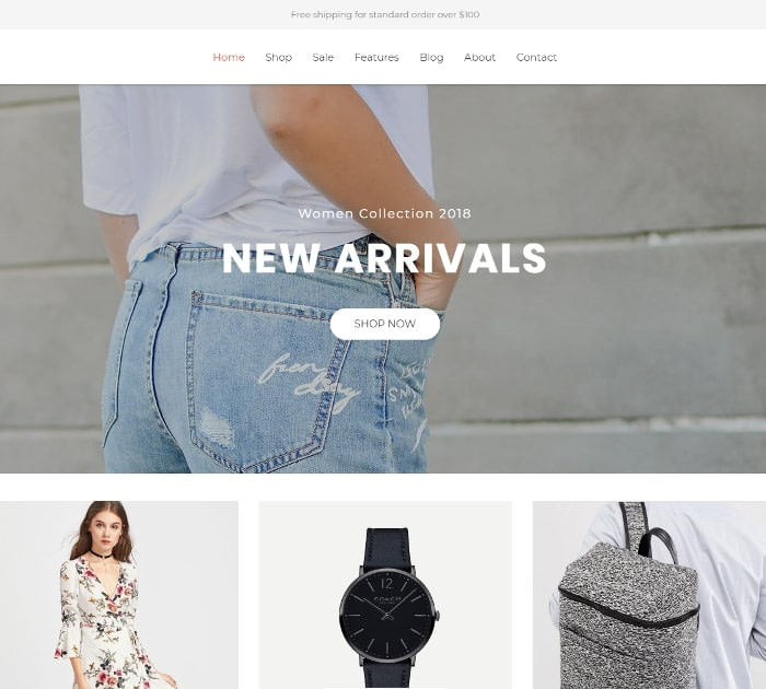 Best Free Shopify Themes: Fashe