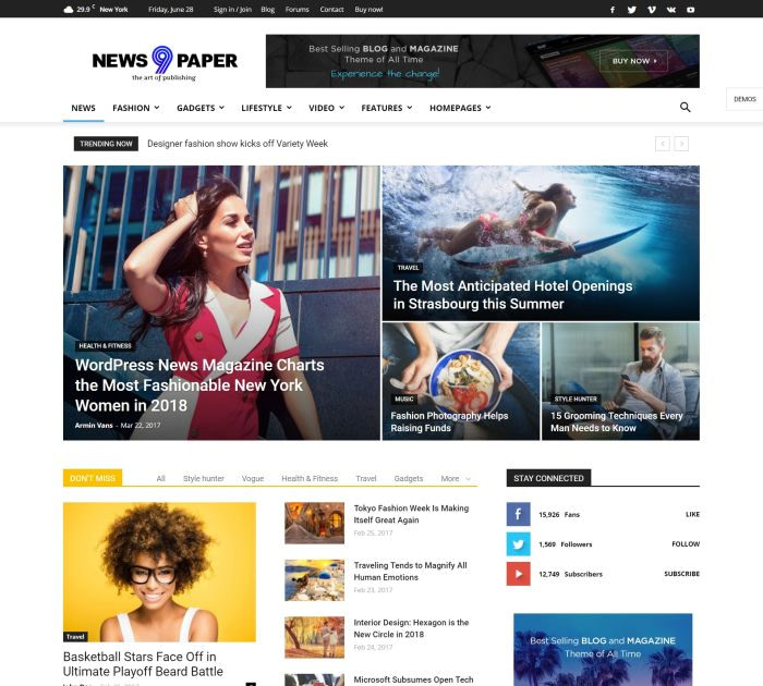 Best WordPress themes: Newspaper