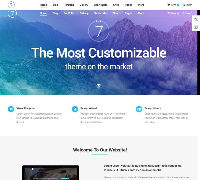 Best WordPress themes: the7