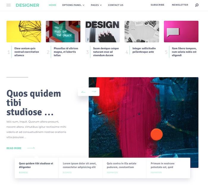 Best Themes for Thrive Architect #4: designer