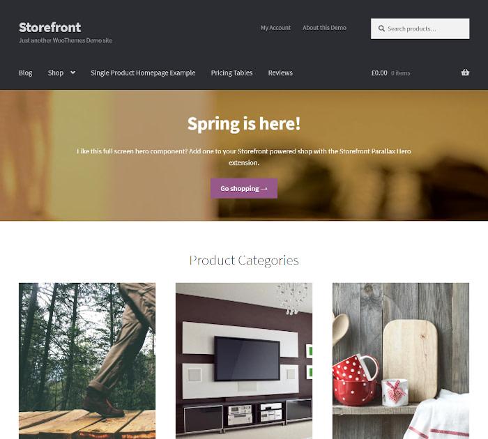 Fastest WooCommerce themes: Storefront