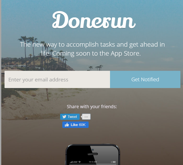 Best Webflow templates and themes: Donerun - Mobile website template