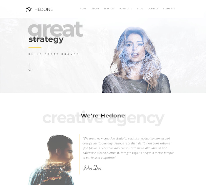 Best Webflow templates and themes: Hedone - Creative Webflow template