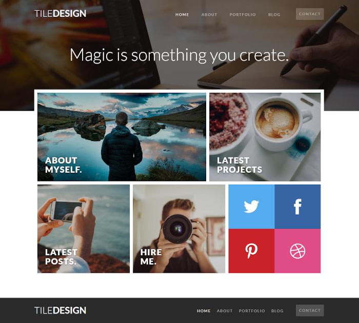 Best Webflow templates and themes: TileDesign - Portfolio website template