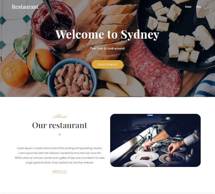 Best food delivery WordPress themes: Sydney