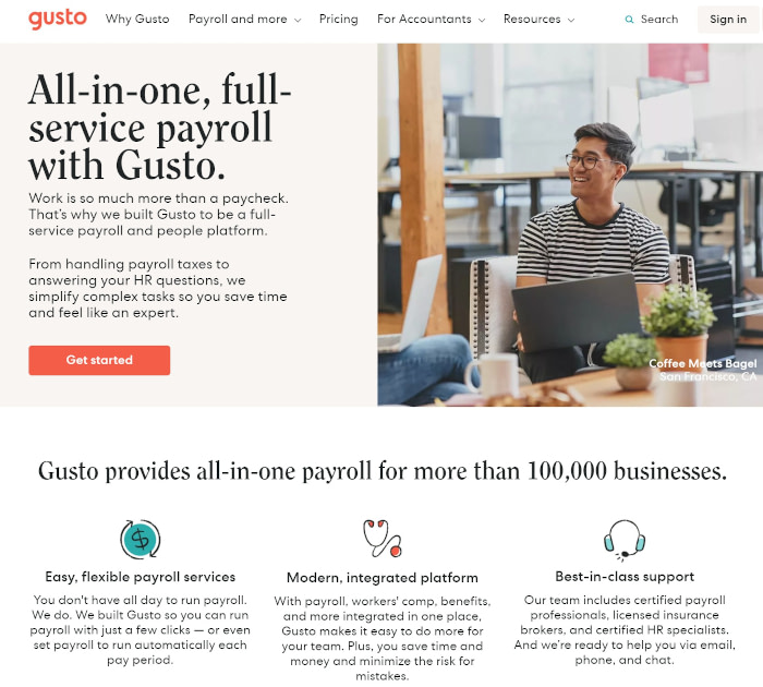 Best payroll software: Gusto