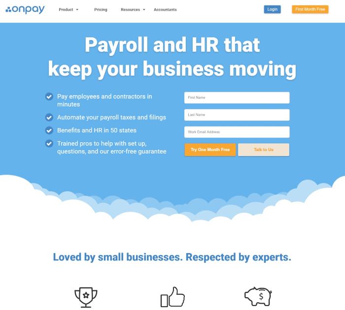 Best payroll software: OnPay