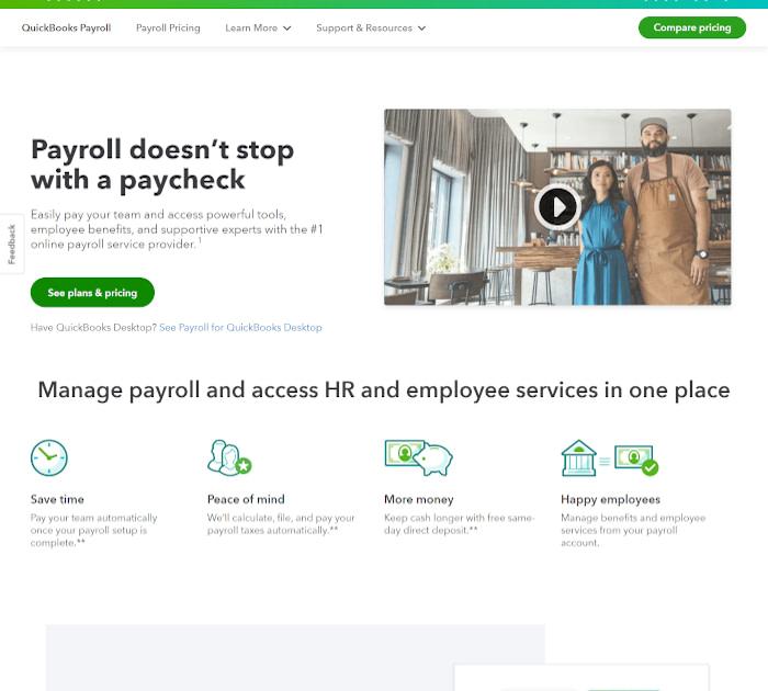 Best payroll software: QuickBooks