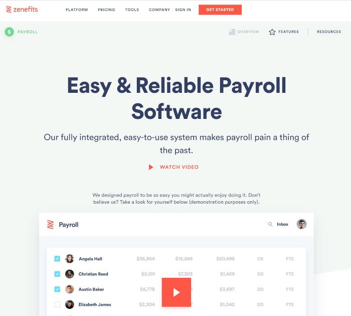 Best payroll software: Zenefits