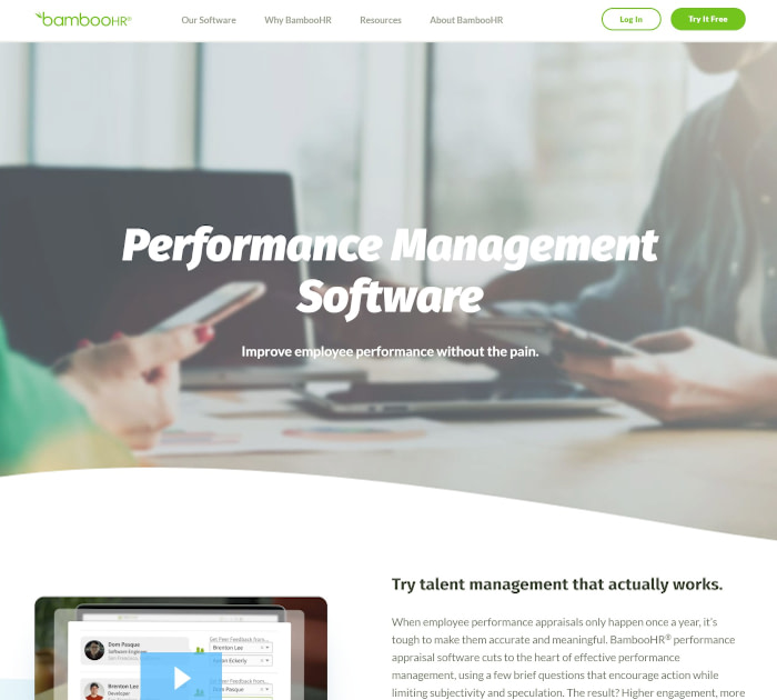 Best performance appraisal software: BambooHR