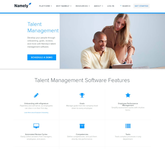 Best performance appraisal software: Namely