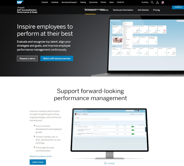 Best performance appraisal software: SAP SuccessFactors