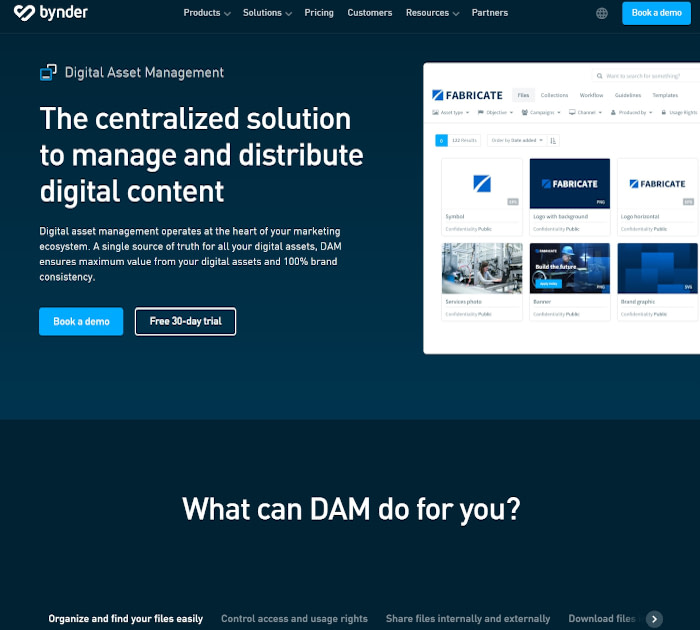 Best digital asset management software: Bynder