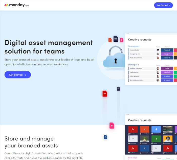 Best digital asset management software: monday.com