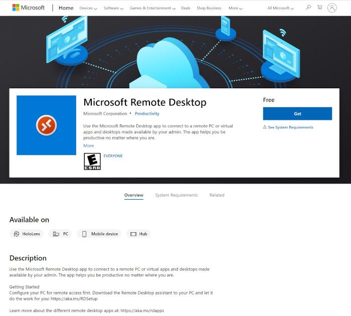 Best employee scheduling apps: Microsoft Remote Desktop