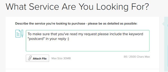Fiverr service request
