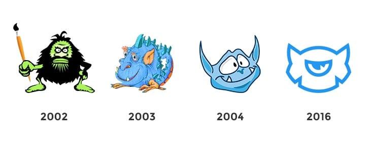 TemplateMonster logo evolution