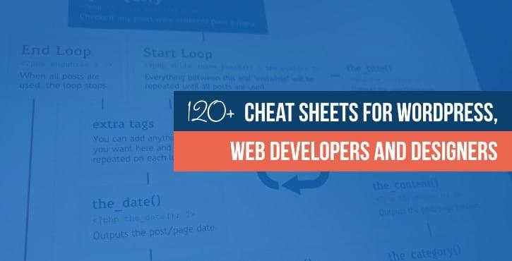 WordPress cheat sheets + web development and design