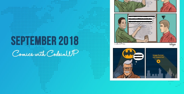 September 2018 Comics with CodeinWP