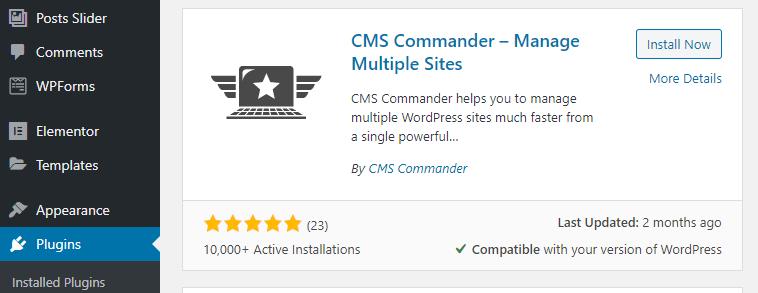 The CMS Commander plugin.