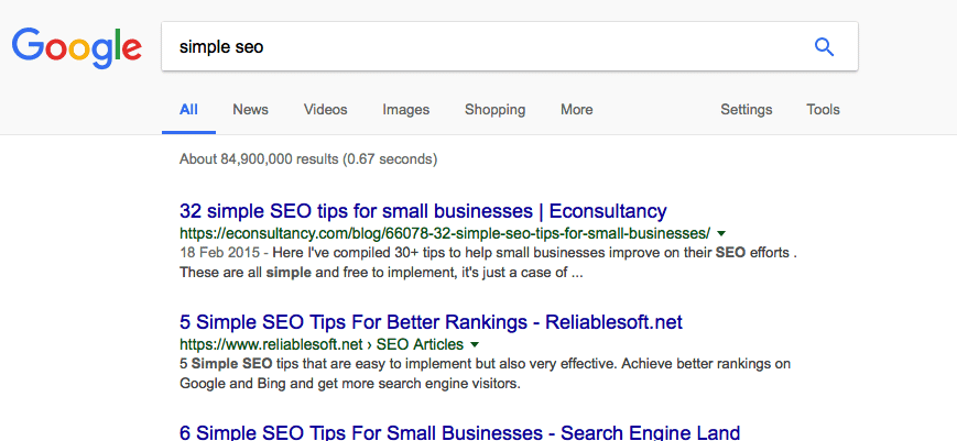 Not a simple SEO guide