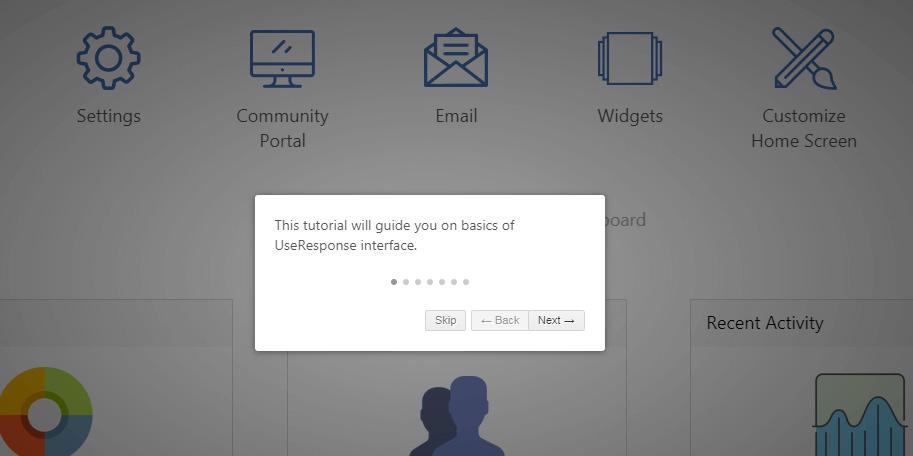 The UseResponse dashboard.