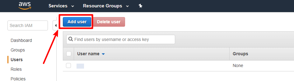 create iam user