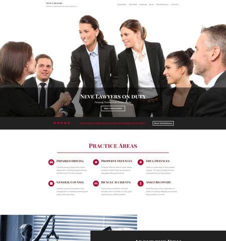 Best free WordPress themes: neve lawyers