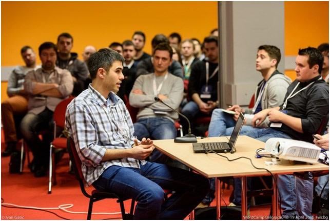 Me at WordCamp Belgrade
