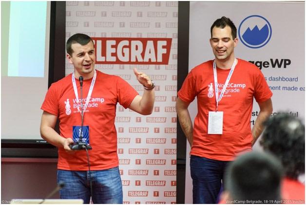 Milan Ivanovic and Marko Heijnen, WordCamp Belgrade Organizers