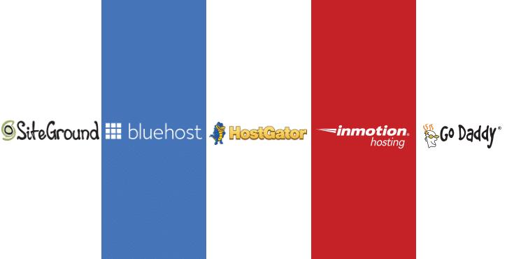 SiteGround vs Bluehost vs HostGator vs InMotion vs GoDaddy
