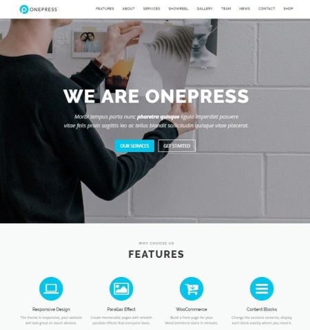 Best free WordPress themes #4: onepress